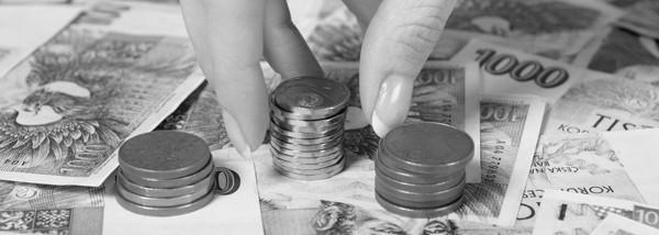peníze - bankovky - mince - ilustrace - 3.3.2011